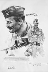 Robin Olds <br> By John Shaw<br> Only 15 Prints Left<br> $145