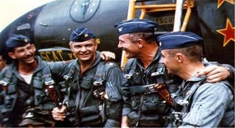 Robin Olds With His Men in Vietnam