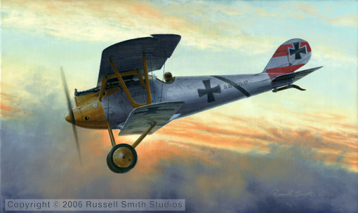 Rudenberg's Pfalz D111<br> By Russell Smith<br>