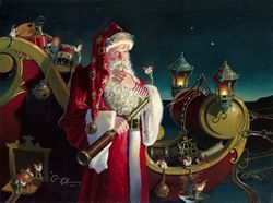 Santa Packed and Ready by Dean Morissey<br>