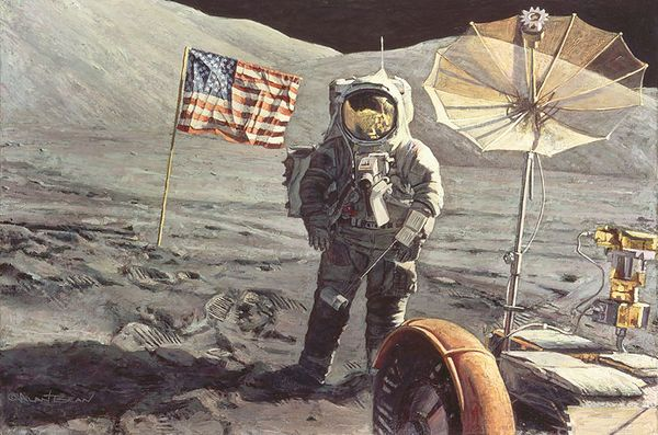 Savoring The Moment<br> by Alan Bean