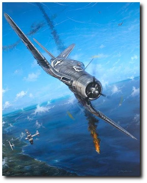 Semper Fi Skies<br>By John Shaw <br>Signed by Archie Donahue<br>