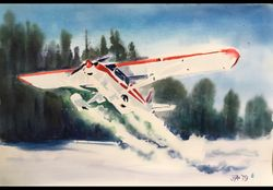 """SNOW CUB"" by IANET ARCHIBALD  -   Original Watercolor"