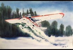 �SNOW CUB� by IANET ARCHIBALD  -   Original Watercolor