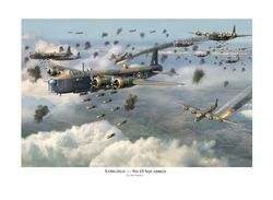 """STIRLINGS - NO 15 SQUADRON <b style= """"color: red;font-weight:bold,""""> NEW  RELEASE </b>     by JIM LAURIER"""