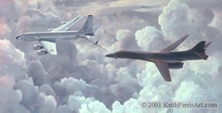 TEAM MATES by KEITH FERRIS<br>  KC-135R<br> B-1B<br>
