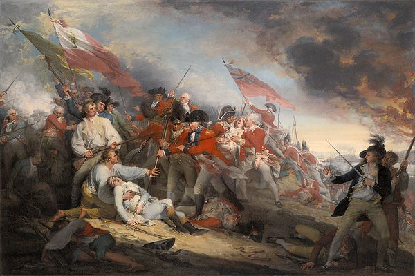 The Battle of Bunker's  Hill, June 17, 1775  by John Trumbull