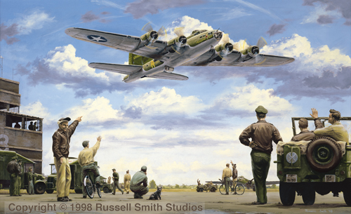 The Belle of Bassingbourne<br> By Russell Smith<br> Signed  by Col. Bob Morgan<br>$95