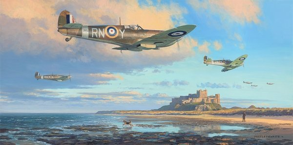 The Black Horse Over Bamburgh<br> NEW RELEASE by Mark Postlethwaite
