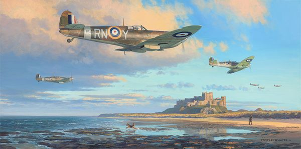 THE BLACK HORSE OVER BAMBURGH by MARK POSTLETHWAITE<br> NEW RELEASE