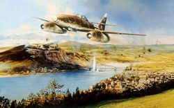THE BRIDGE AT REMAGEN by ROBERT TAYLOR  - NEW</b> Secondary Market Print