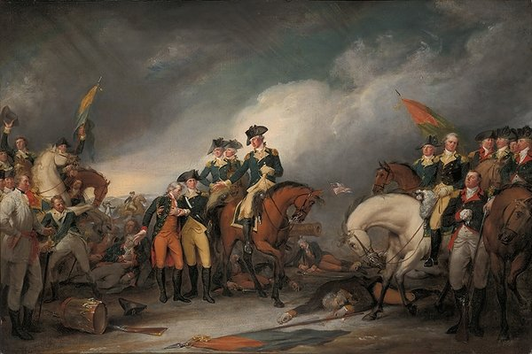 The Capture of the Hessians at Trenton, December 26, 1776<br> by John Trumbull
