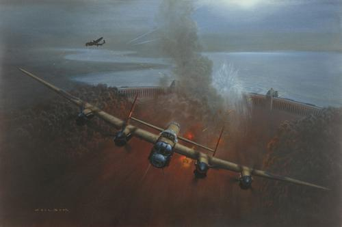 "<big><center> ""The Dambusters-Breaching the Möhne"" <br>by Gerald Coulson<br/>Nine Dambuster Signatures</center></big>"