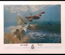 "<big><center> ""The Dambusters"" by Frank Wooton<br/>50th Anniversary of 617 Squadron<br/></center></big>"