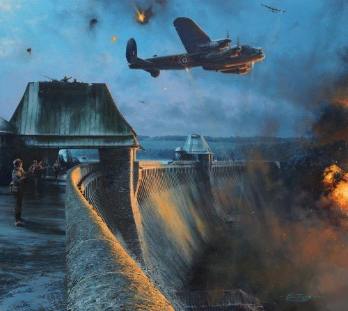 The Dambusters - Last Moments of the Moehne Dam<br> By Robert Taylor<br>