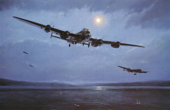 The Dambusters <br>By Simon Smith<br> Signed by 5 Dambusters