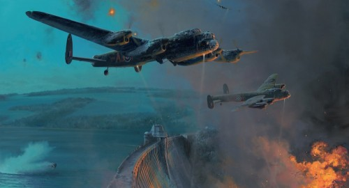 """""""The Dambusters-Three Good Bounces"""" by Robert Taylor"""