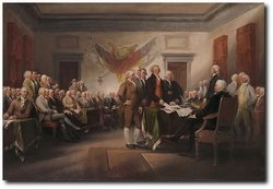 The Declaration of Independence - 4th July 1776 by John Trumbull