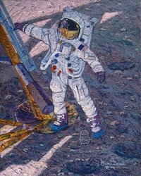 The First Human Footprint<br> NEW RELEASE by Alan Bean<br>