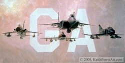 The Glory Years<br>By Keith Ferris<br>  F-105:  F-100:  F-4<br>