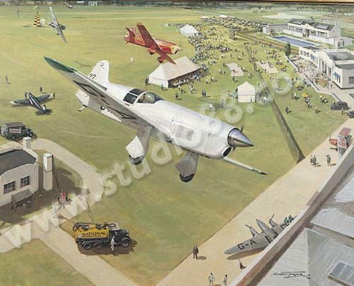 1938 Kings Cup -<br> Last Blue Riband Air Race <br>  Alex Henshaw MBE Signed<br>