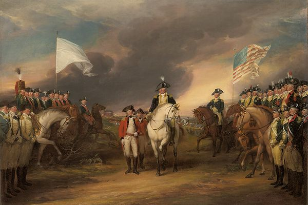 The Surrender of Lord Cornwallis at Yorktown, <br>October 19, 1781