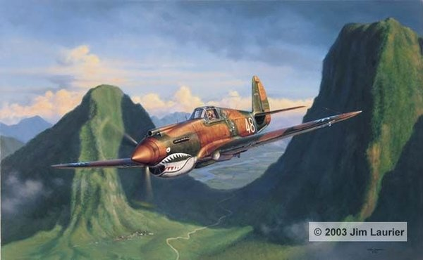 Tiger Pass by Jim Laurier<br> Signed By Tex Hill<br>