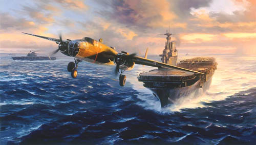 """<b style=""""color:red;font-weight: bold;"""">NEW   </b>Tokyo Bound by Nicolas Trudgian<br><b style= """"color: blue; font-weight:bold,"""">      Doolittle Raid<br></b>"""