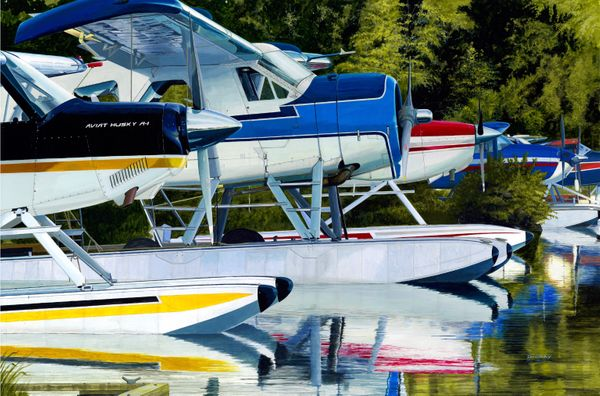 <big><center> TRANQUILITY BASE by DAVID GRAY<big><center><b/>     NEW GICLEE CANVAS RELEASE