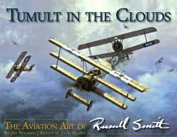 Tumult in the Clouds<br> Aviation Art Book <br>By Russell Smith<br>$49.95