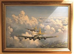 "U.S. B-17 Flying Fortress"" <br> By Ron Lackenby<br>  $2,950<br>"