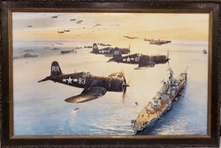 """<b> """"VICTORY FLYOVER"""" By ROBERT TAYLOR<br> GICLEE STUDIO PROOF CANVAS FRAMED"""