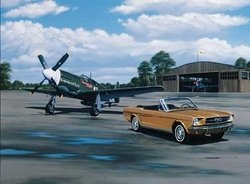 Vintage Mustangs<br> Signed by Colonel H. Brown<br>