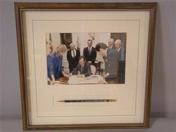Virginia at Signing of Low Holding Over San Jacinto