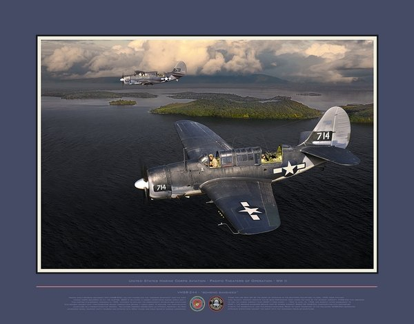 "VMSB-244 ""Bombing Banshees"" - WW II<br> by Jack Fellows"