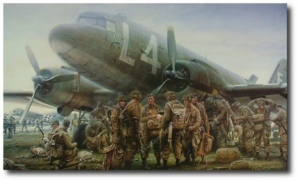"<big><center> ""We Were A Band of Brothers"" by John Shaw<br>SOLD<br>13 Easy Company 101st Signatures<br>number 12 of 850</big></center>"
