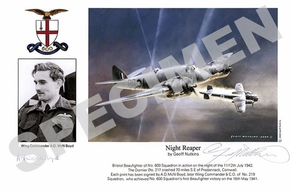 Wing Commander A.D. McN.Boyd <br> Night Reaper<br>