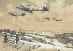 Winter Combat - The Masterwork Drawing<br> By Richard Taylor