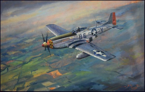 """""""Yeager's P-51""""  by Martin Bleasby - Sold - Commission one likeit"""