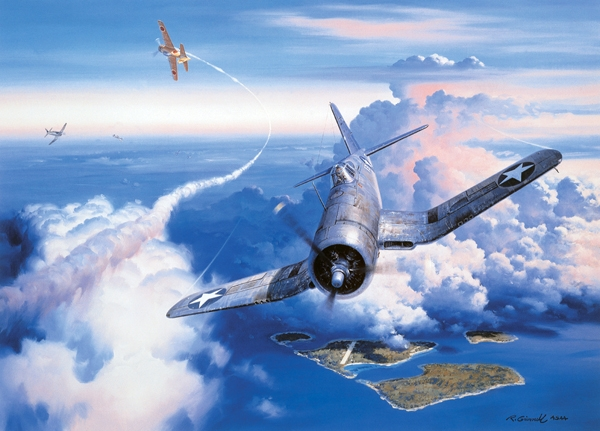 ZERO FIGHTER SWEEP by ROY GRINNELL -  Signed By Ken Walsh MOH<br>