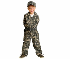 Aeromax Kids Camouflage - Army Costume