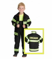 Aeromax Kids Chicago Firefighter Costume - Black