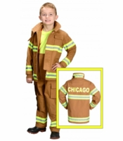 Aeromax Kids Chicago Firefighter Costume - Tan