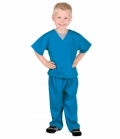 Aeromax Kids Doctor Scrubs Costume - Blue