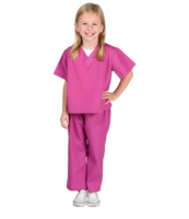 Aeromax Kids Doctor Scrubs Costume - Pink