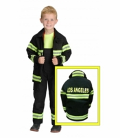 Aeromax Kids Los Angeles Firefighter Costume - Black