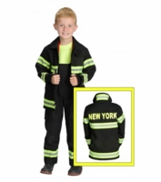 Aeromax Kids New York Firefighter Costume - Black