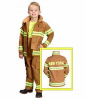 Aeromax Kids New York Firefighter Costume - Tan
