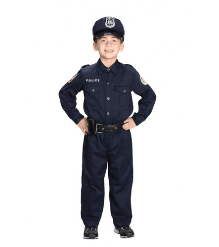Aeromax Kids Police Officer Costume - with Cap
