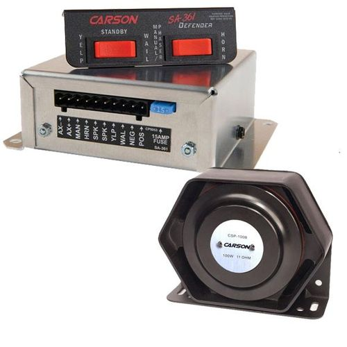 Carson Sirens / Sound Off Signal Remote Police & Fire Siren Package